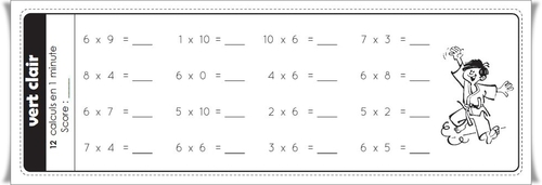 Ceintures de tables de multiplications v2 charivari - Evaluation tables de multiplication cm1 ...