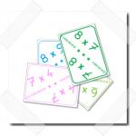 Cartes pour apprendre les tables de multiplication