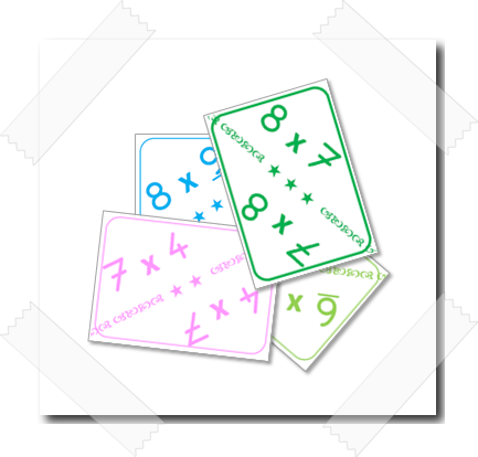 Cartes pour apprendre les tables de multiplication for Table de multiplication cm2