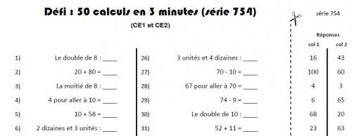 Calcul mental d fi ce charivari l 39 cole - Table de multiplication en ligne ...