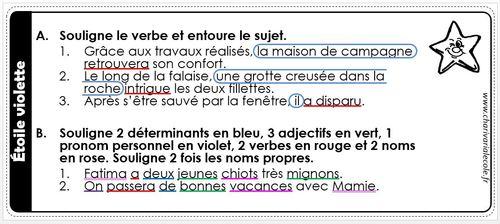 Appel à contributions : étoiles de grammaire pour des CE1-CE2 !