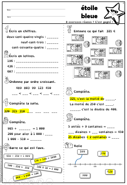 esthétique de luxe meilleur service prix de liquidation Étoiles de numération (CE1 CE2) avec version belge ...