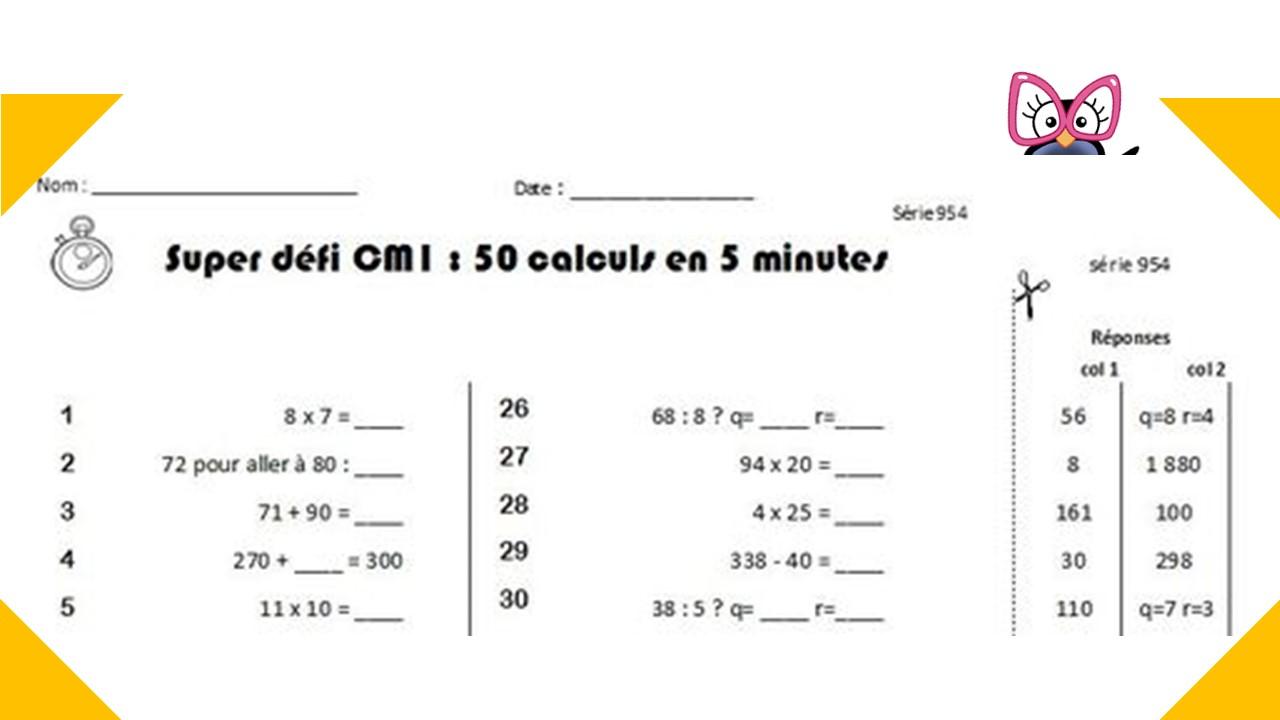 Calcul mental CM1 et CM2 : programmation et générateur ...