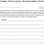 Direction : une fiche qui suit l'élève de classe en classe