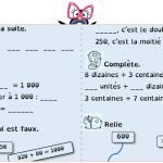 Étoiles de numération (CE1 CE2) avec version belge