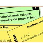 Cartes autocorrectives pour des ateliers au cycle 3