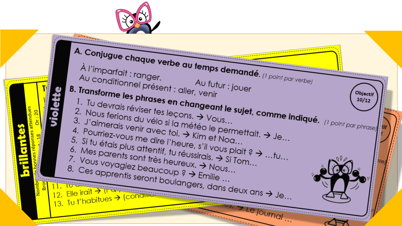 Ceintures De Conjugaison Version 2018 Avec Version Dys