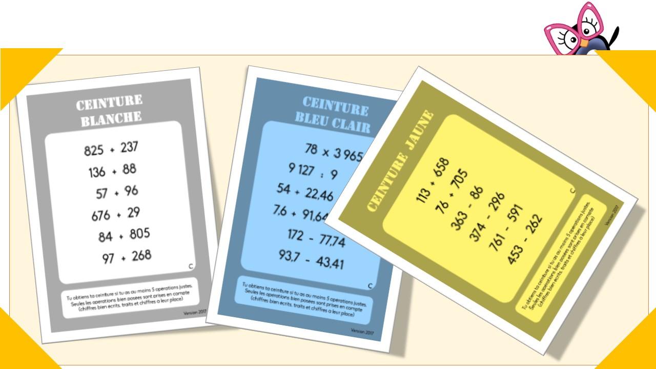 dernier les ventes en gros vente chaude authentique Ceintures de calcul posé (cycle 3) - Charivari à l'école