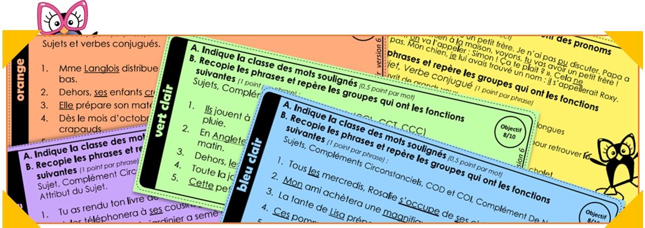Ceintures De Grammaire Version 2018 Et Version Dys Charivari A L Ecole
