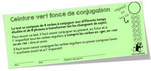 Ceintures De Conjugaison Avec Version Dys Et Version Numerique Charivari A L Ecole